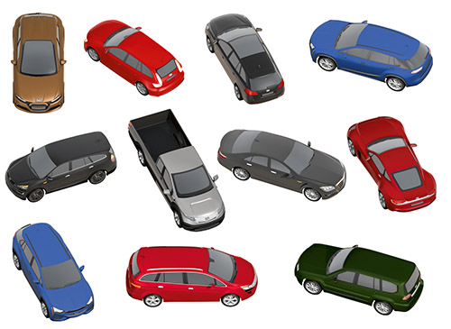 DOSCH 2D Viz-Images: Isometric - Cars sample-image