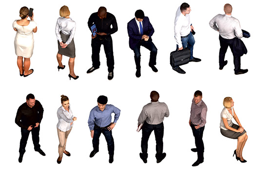 DOSCH 2D Viz-Images: Isometric - People - Business sample-image