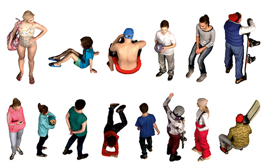 DOSCH 2D Viz-Images: Isometric - People - Leisure sample-image