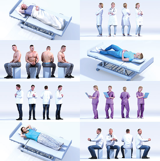 DOSCH 3D: People - Hospital Vol. 2 sample-image